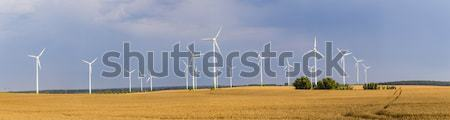 wind generators deliver electricity in Wolgast Stock photo © meinzahn