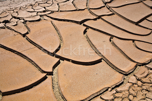 Aszalt repedt sár felfelé patak sivatag Stock fotó © meinzahn