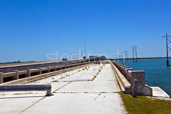 öreg rohadt híd park új tengerpart Stock fotó © meinzahn