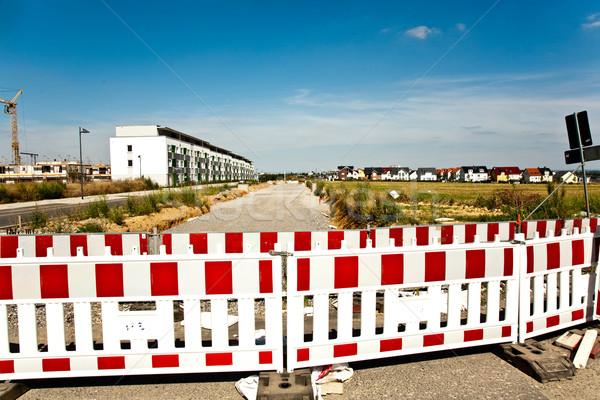 hoarding in a housing area under construction Stock photo © meinzahn