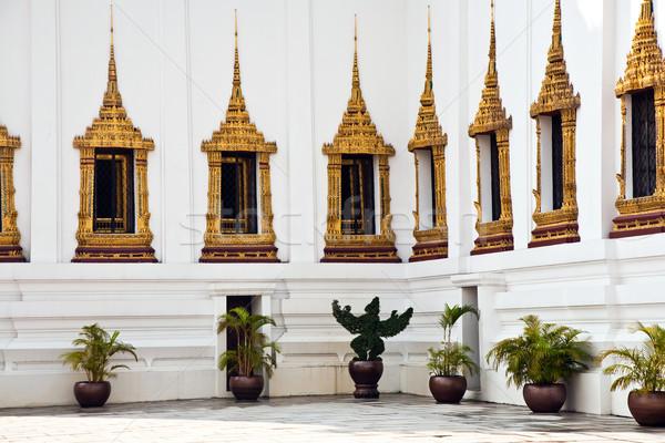 парад дворец Бангкок дома облака зданий Сток-фото © meinzahn
