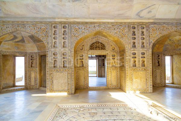 Kırmızı kale kapı Hindistan unesco dünya Stok fotoğraf © meinzahn