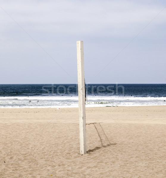 Voleibol postar praia azul água verão Foto stock © meinzahn