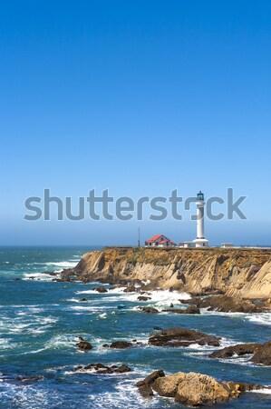 Híres pont aréna világítótorony Kalifornia tengerpart Stock fotó © meinzahn