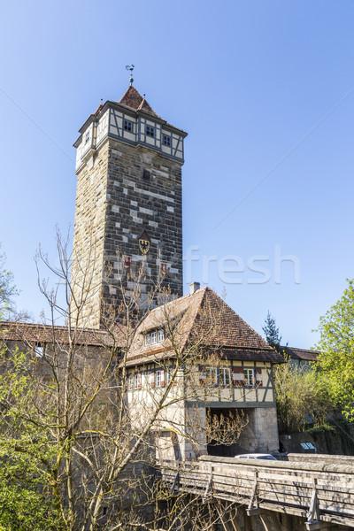 Rothenburg ob der Tauber, Bavaria, Germany Stock photo © meinzahn
