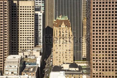 facade of old skyscraper in San Francisco Stock photo © meinzahn
