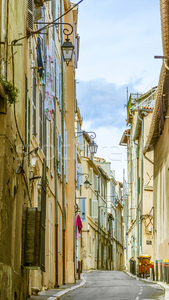 View of the historic quarter Le Panier in Marseille in France Stock photo © meinzahn