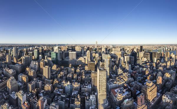 壮大な スカイライン 表示 ニューヨーク 遅い 午後 ストックフォト © meinzahn