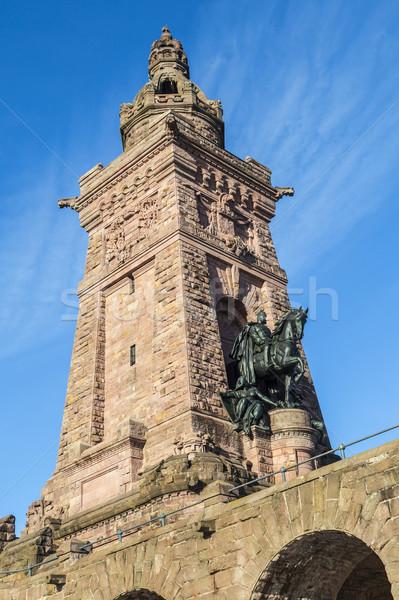 Wilhelm I Monument on Kyffhaeuser Mountain Thuringia, Germany Stock photo © meinzahn