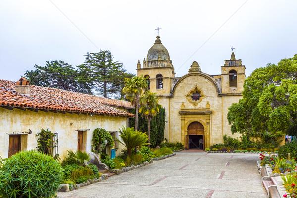 Missie noordelijk Californië gebouw kerk reizen Stockfoto © meinzahn