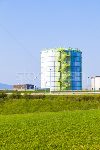 silo in Industry Park in beautiful landscape near Frankfurt  Stock photo © meinzahn