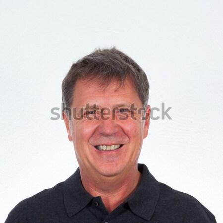 Smart aantrekkelijk man studio geïsoleerd witte Stockfoto © meinzahn