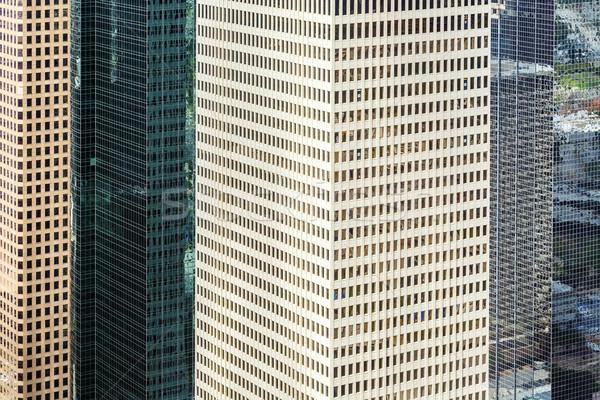 Homlokzat modern épületek belváros Houston részlet Stock fotó © meinzahn