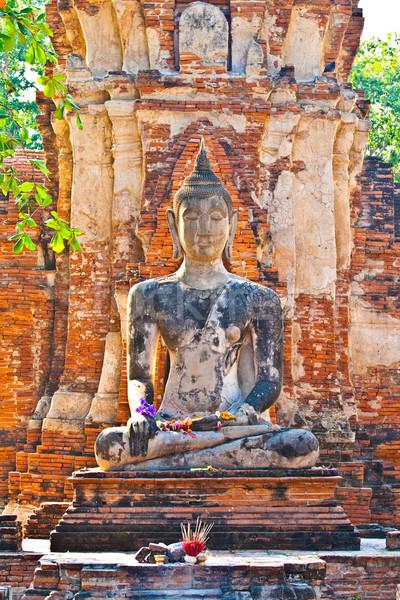 Buddha standbeeld mooie licht tempel steen Stockfoto © meinzahn