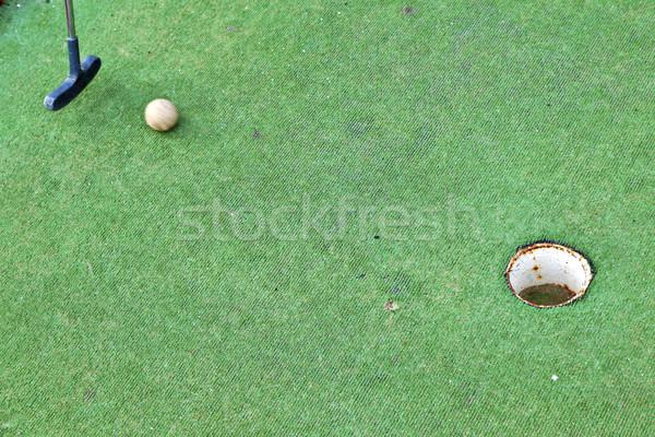 mini golf course Stock photo © meinzahn