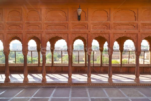 Erőd város India épület kastély Ázsia Stock fotó © meinzahn