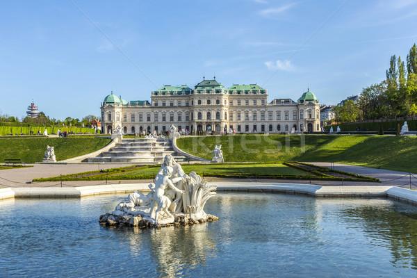 Pałac lata Wiedeń Austria niebo budynku Zdjęcia stock © meinzahn