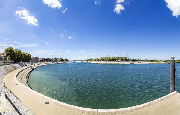 river Rhone in Arles Stock photo © meinzahn