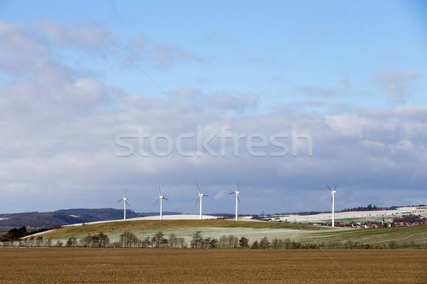 Rüzgâr kış dört enerji elektrik Stok fotoğraf © meinzahn