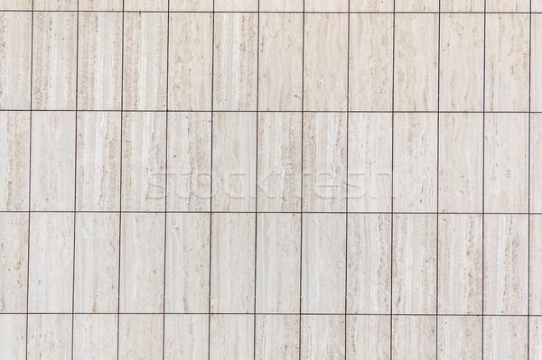 Marmuru fasada prostokątny płytek harmoniczny wzór Zdjęcia stock © meinzahn
