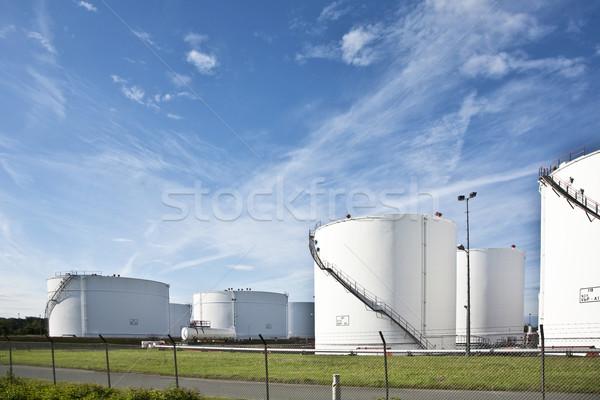 белый цистерна фермы Blue Sky синий Сток-фото © meinzahn