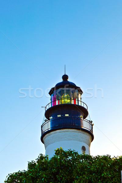 Világítótorony kulcs nyugat Florida gyönyörű égbolt Stock fotó © meinzahn
