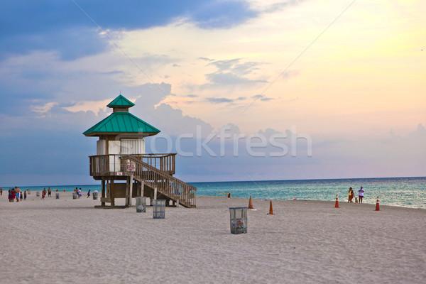 Naplemente napos szigetek Miami tengerpart égbolt Stock fotó © meinzahn