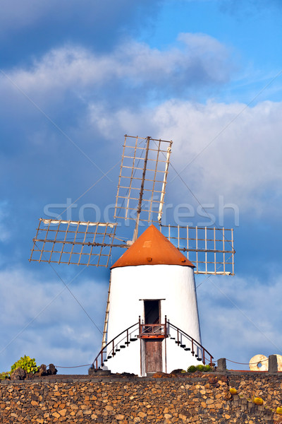beautiful windmill in lanzarote Stock photo © meinzahn
