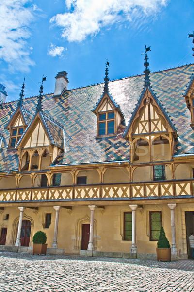Híres elfekvő Franciaország bor szín történelem Stock fotó © meinzahn