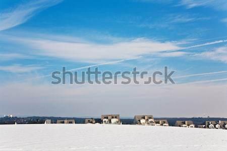 Belle paysage eau tour logement hiver Photo stock © meinzahn