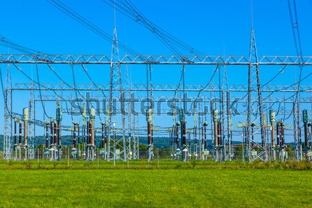 electrical power plant in farmland area Stock photo © meinzahn