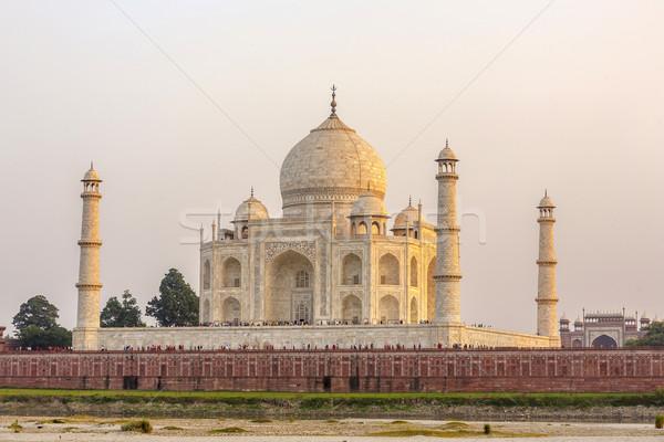 Taj Mahal coucher du soleil rivière amour soleil paysage Photo stock © meinzahn