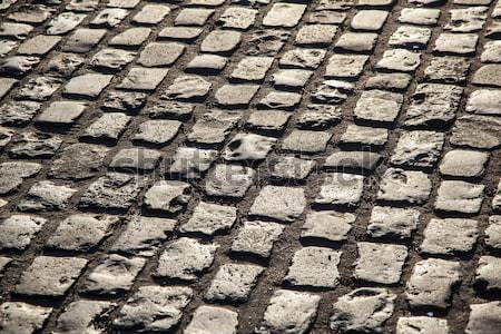old cobble stone street In Frankfurt Stock photo © meinzahn