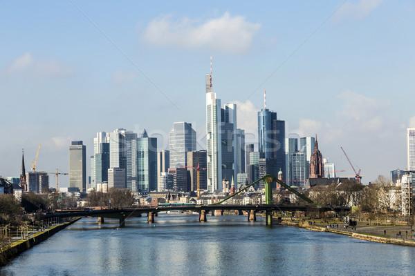 лет мнение Финансовый район Франкфурт Германия бизнеса Сток-фото © meinzahn