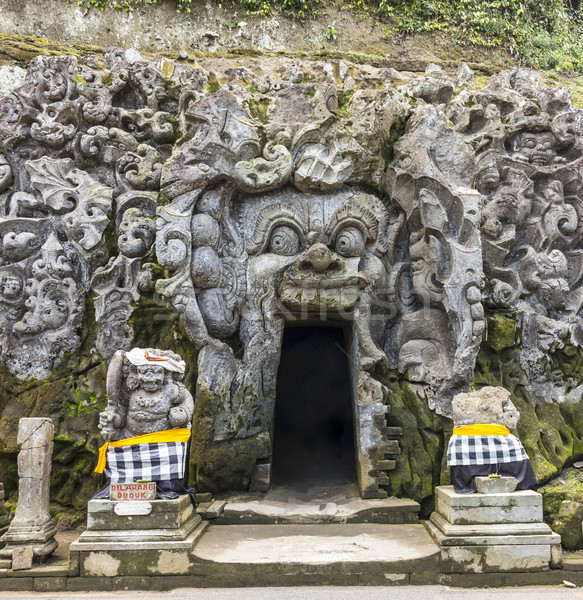 Grotta bocca goa tempio bali natura Foto d'archivio © meinzahn