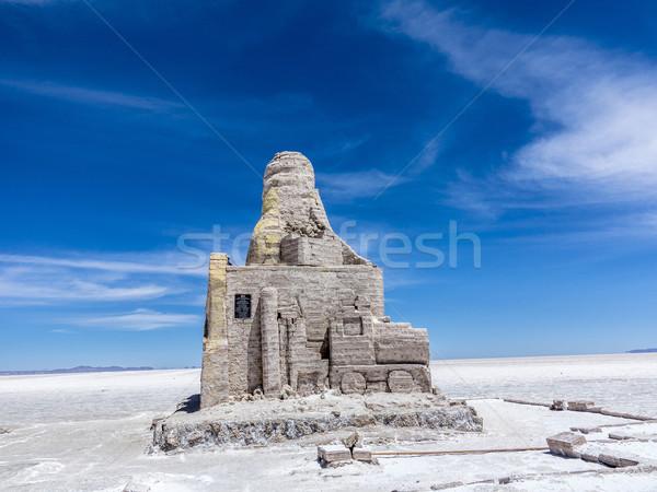 Bolivia wolken weg landschap reizen snelheid Stockfoto © meinzahn