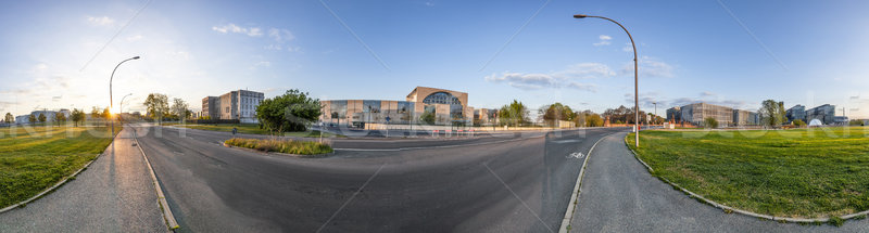 german goverment buildings with panorama of Spree bogen in Berli Stock photo © meinzahn