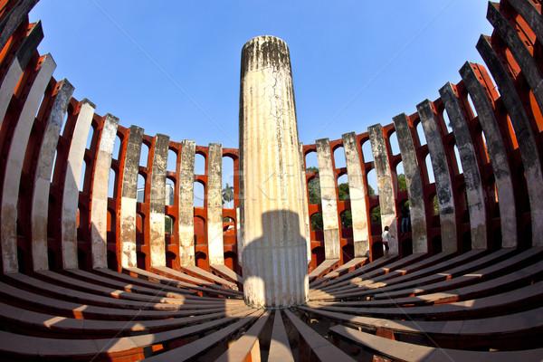 Csillagászati Delhi építkezés kék tudomány építészet Stock fotó © meinzahn