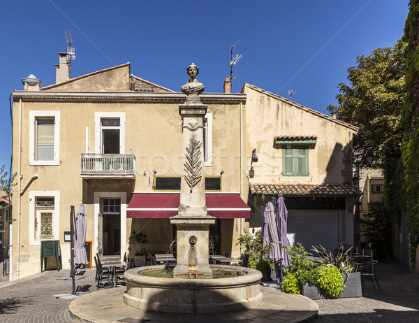 old fountain in salon de provence  Stock photo © meinzahn