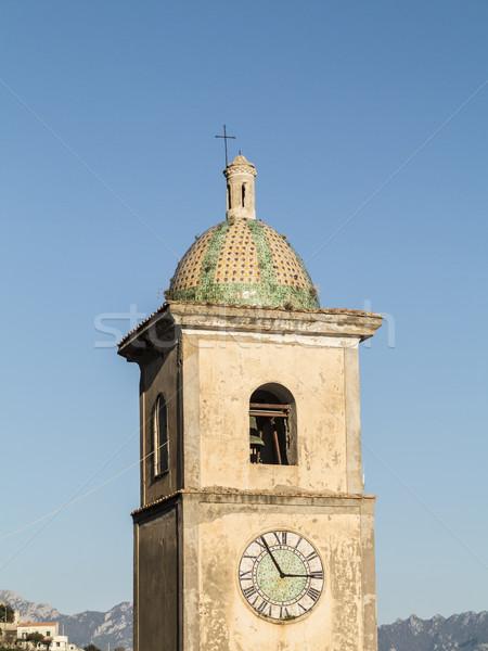 clock tower of a small village at Amalfitana  Stock photo © meinzahn