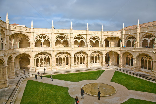monastery Jeronimos in Belem, near Lisbon, famous monastery in P Stock photo © meinzahn