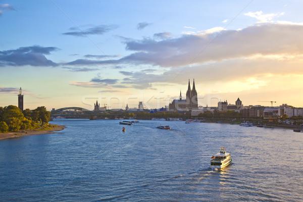 ship on river Rhein by Cologne Stock photo © meinzahn