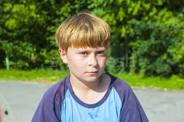少年 発汗 顔 スポーツ ルックス 子供 ストックフォト © meinzahn