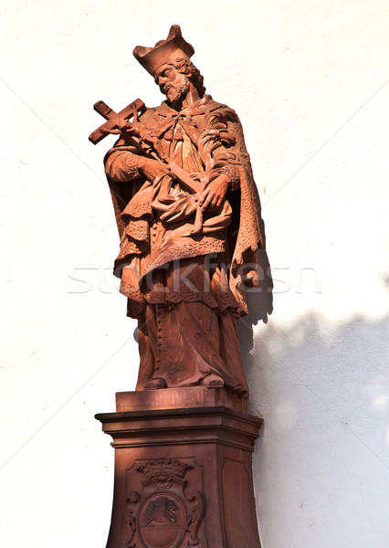 статуя святой песчаник святой стены Церкви Сток-фото © meinzahn