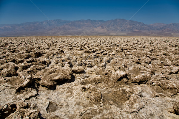 area of salt plates in the middle of death valley, called Devil' Stock photo © meinzahn
