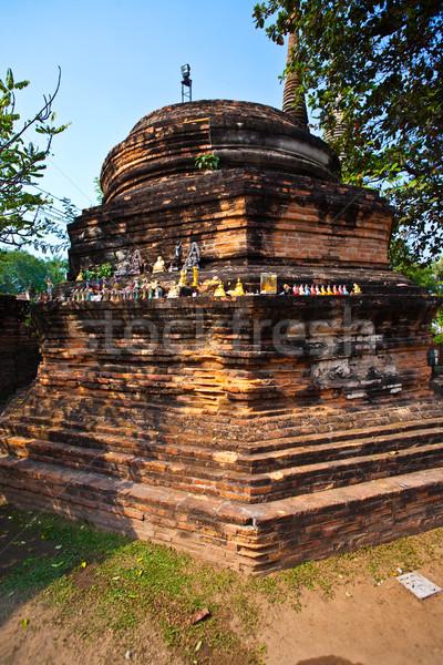 небольшой ногу храма небе синий каменные Сток-фото © meinzahn