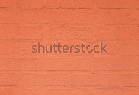 Vermelho harmônico parede de tijolos américa casa parede Foto stock © meinzahn