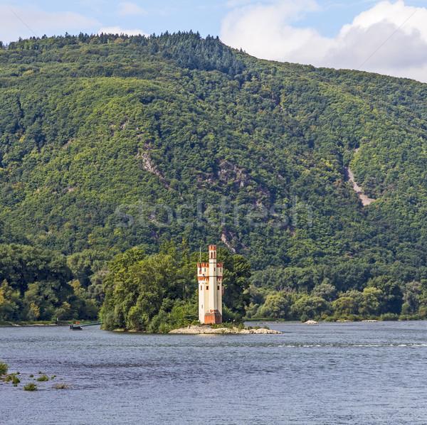 Maeuseturm in Bingen, Germany Rhine valley Stock photo © meinzahn