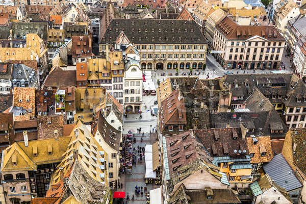 aerial view of Strasbourg  to the old city Stock photo © meinzahn