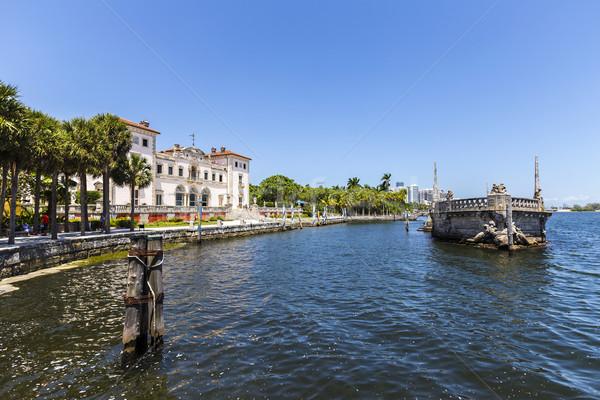 Museu Miami blue sky céu água paisagem Foto stock © meinzahn